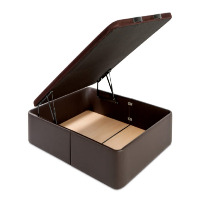 canapé polipiel de gran capacidad marrón