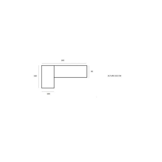 medidas sofá modelo teide