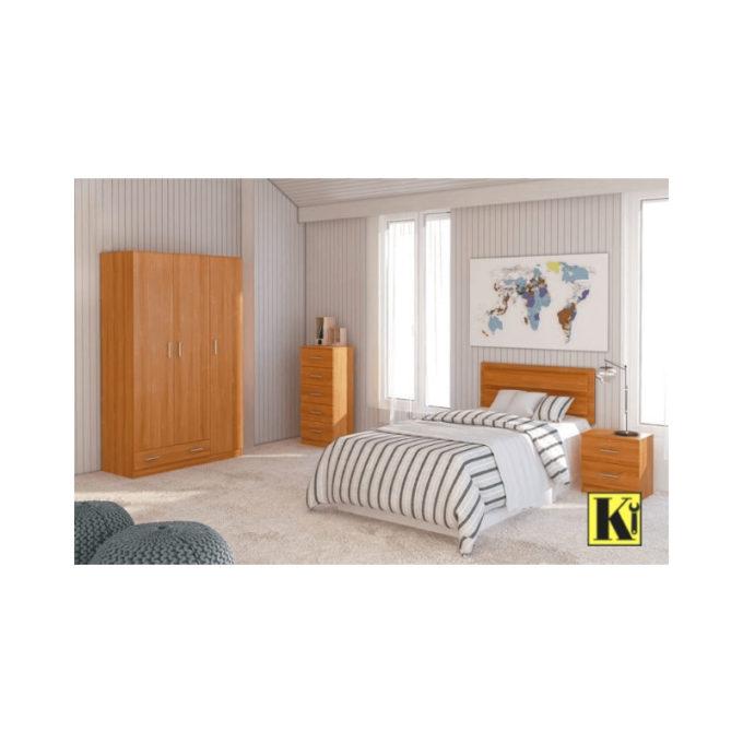 Dormitorio juvenil modelo d-08 color cerezo