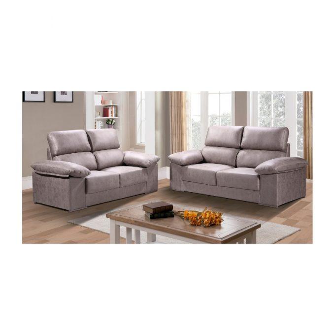 Sofa modelo zurich color cemento
