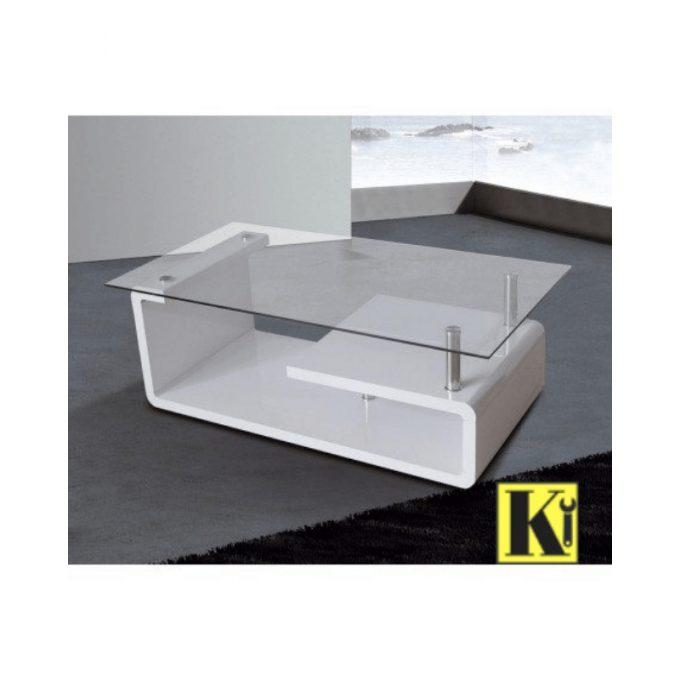 Mesa centro fija modelo e-01 color blanco