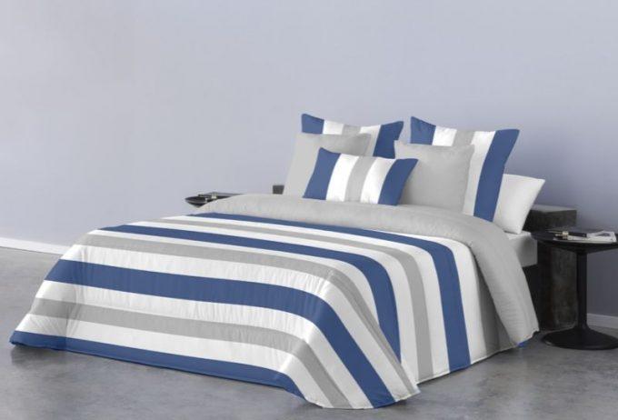 Mas Que Muelles | Edredón nórdico | Modelo Javea - Color azul y gris