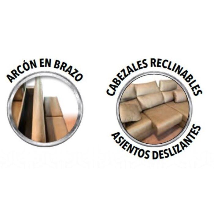 Mas Que Muelles   Sofás   Chaiselongue modelo Gijón